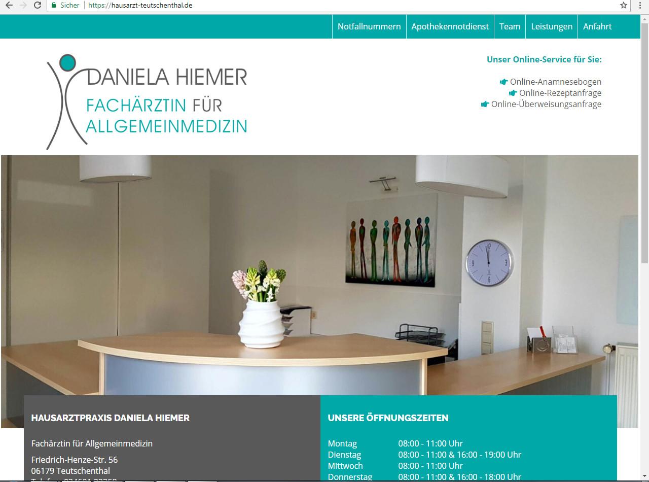 Hausarzt Teutschenthal Website