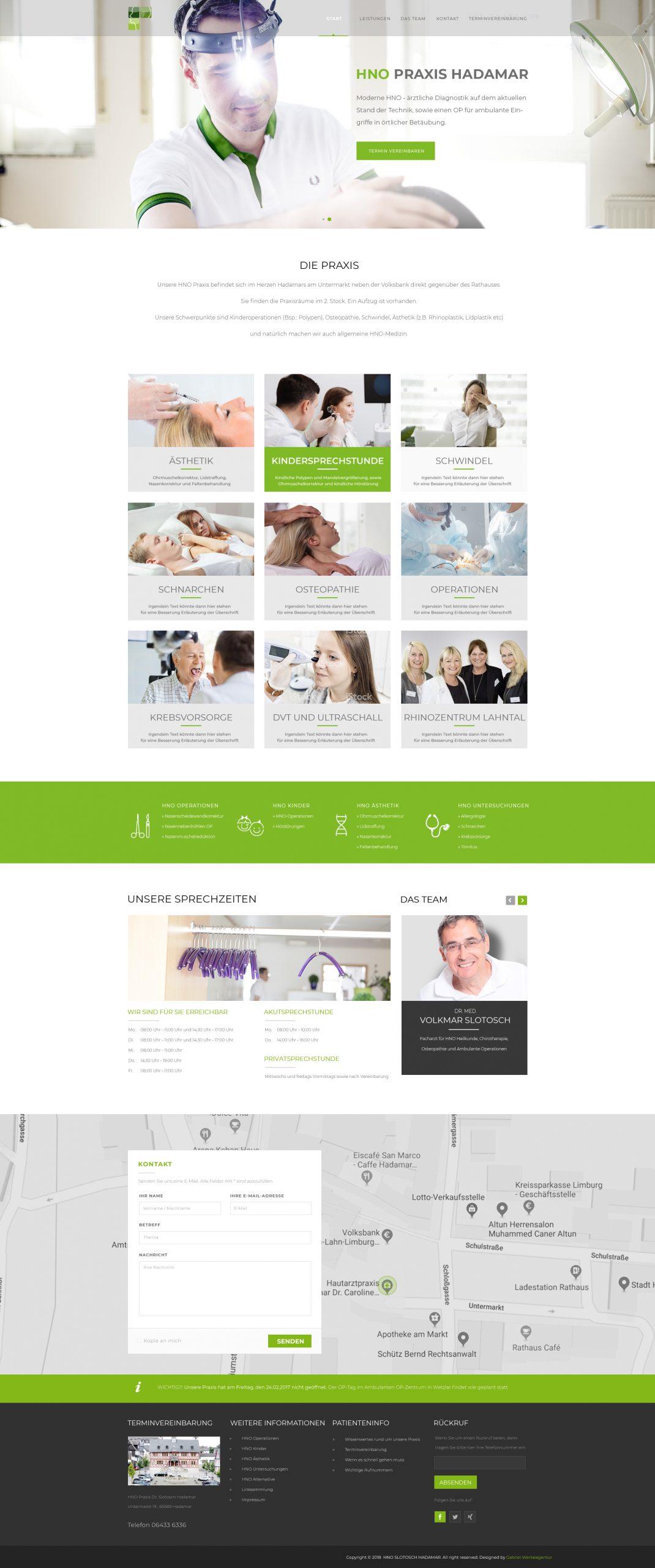 HNO Praxis Hadamar Website