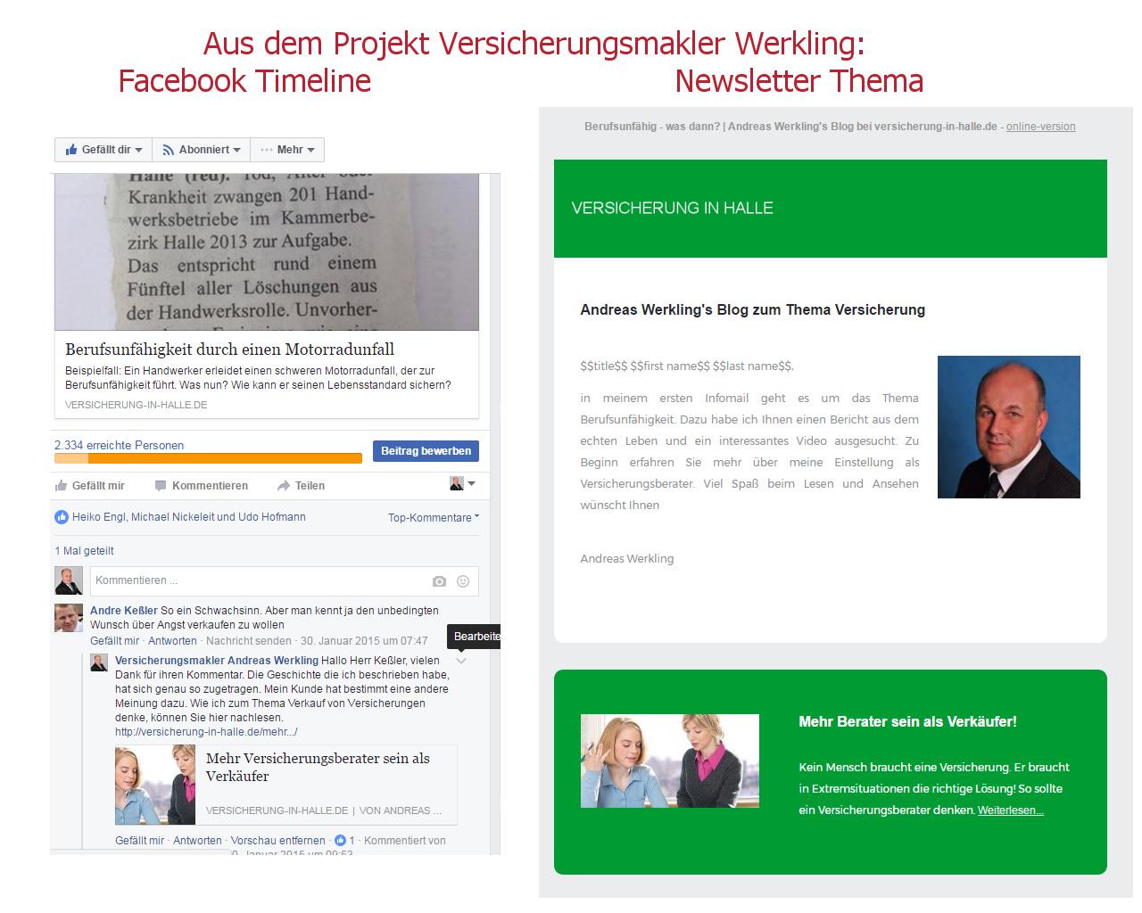 Online-Marketing-Mix - Social Media vs. Newsletter