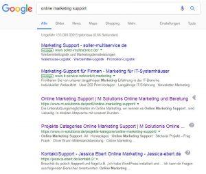 online-marketing-support - desktop serps