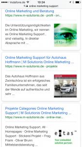 Produkt-Service-Bild-mark-up in den mobile serps