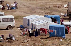 Syrien Flüchtlinge - Zeltlager