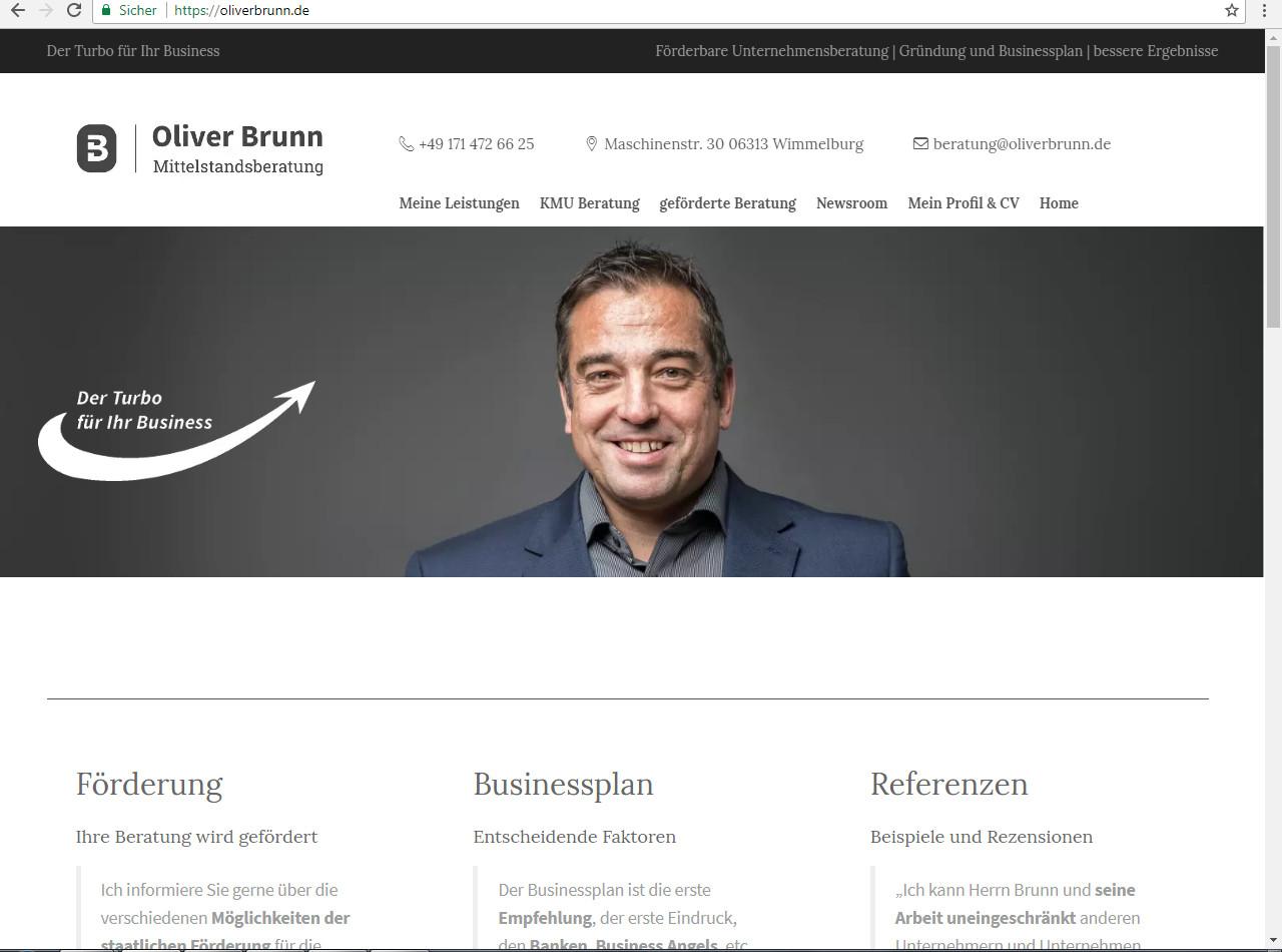 Alte Website Oliver Brunn Mittelstandsberatung
