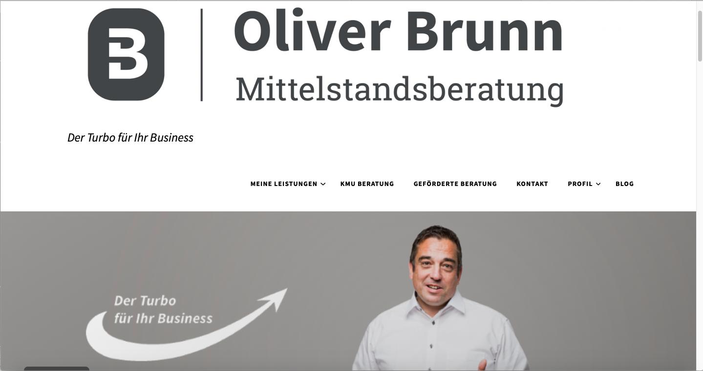 Website Oliver Brunn Mittelstandsberatung